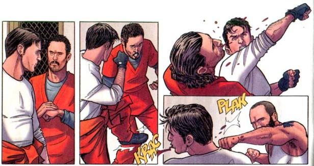 Anche in un fumetto francese, si fa a botte in carcere