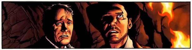 Marcus Brody (Denholm Elliott) e Indiana Jones (Harrison Ford) secondo Steve Scott